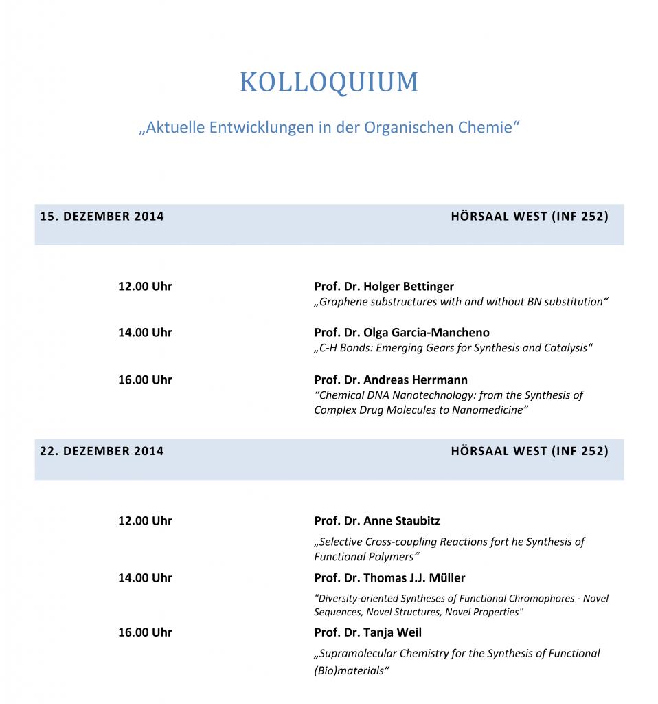 Kolloquium Aktuelle Entwicklungen in der OC_001