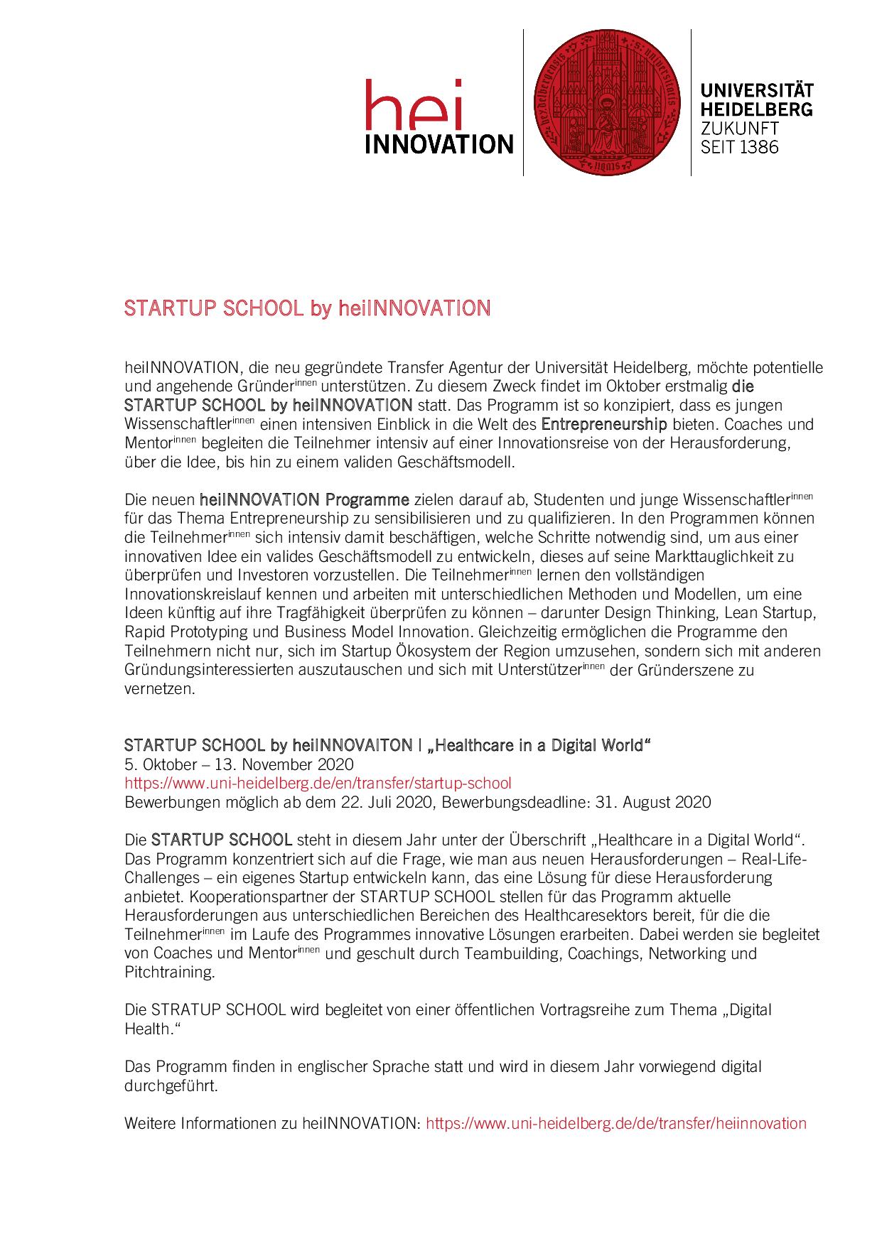Medizinische Fakultat Heidelberg Bewerbung 5
